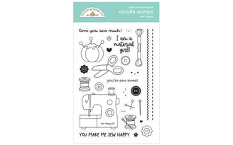 7265 DOODLEBUG CUTE CRAFTY DOODLE STAMPS SEW HAPPY
