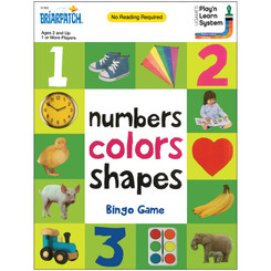 BRIARPATCH NUMBERS COLORS SHAPES BINGO GAME