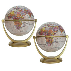 WAYPOINT GEOGRAPHIC (2 EA) 4IN ANTIQUE GYROGLOBE