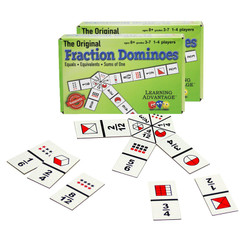 LEARNING ADVANTAGE (2 EA) FRACTION DOMINOES GAME