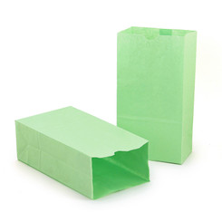 HYGLOSS (2 PK) COLORED CRAFT BAGS LIME