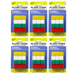 KOPLOW GAMES (6 PK) BLANK DICE WITH STICKERS
