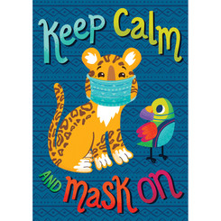 CARSON DELLOSA EDUCATION KEEP CALM AND MASK ON POSTER