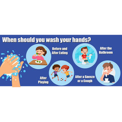 FLIPSIDE PRODUCTS WHEN TO WASH YOUR HANDS WALL