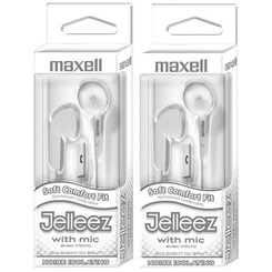 MAXELL (2 EA) JELLEEZ SOFT EARBUDS WITH
