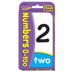 TREND NUMBERS 0-100 POCKET FLASH CARDS