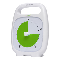 TIME TIMER TIME TIMER PLUS 5 MINUTE WHITE