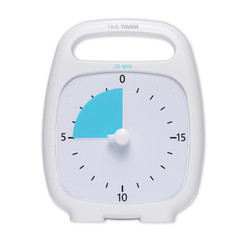 TIME TIMER TIME TIMER 20 MINUTE WHITE