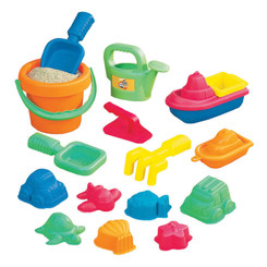 SMALL WORLD TOYS 15-PIECE TODDLER SAND ASSORTMENT