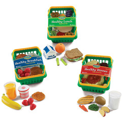 LEARNING RESOURCES PLAY SET HEALTHY FOODS SET OF 55