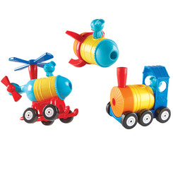 LEARNING RESOURCES BUILD IT TRAIN ROCKET HELICOPTER