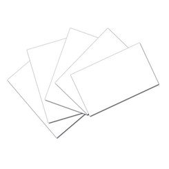 PACON WHITE 3X5 UNRULED INDEX CARDS 100PK