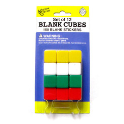 KOPLOW GAMES BLANK DICE WITH STICKERS SET OF 12