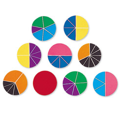 LEARNING RESOURCES DELX RAINBOW FRACTION CIRCLES 51/PK
