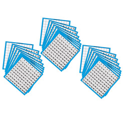 LEARNING RESOURCES (3 EA) LAMINATED HUNDREDS CARDS 10 0375BN