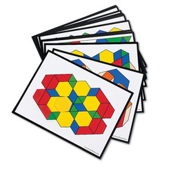 LEARNING RESOURCES INTERMEDIATE PATTERN BLOCK CARDS