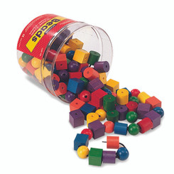 LEARNING RESOURCES BEADS IN A BUCKET 108 BEADS 2 36-