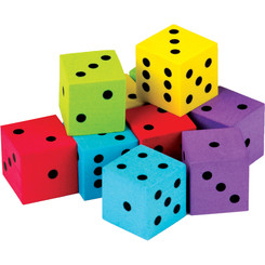 TEACHER CREATED RESOURCES 20 PACK FOAM COLORFUL DICE