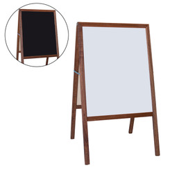 FLIPSIDE PRODUCTS DRYERASE MARQUEE EASEL WHITE BLACK