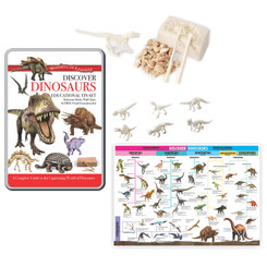 WONDERS OF LEARNING TIN SET DISCOVER DINOSAURS