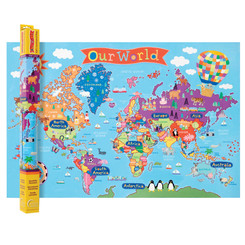 ROUND WORLD PRODUCTS (2 EA) WORLD MAP FOR KIDS KM01BN
