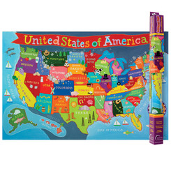 ROUND WORLD PRODUCTS UNITED STATES MAP FOR KIDS