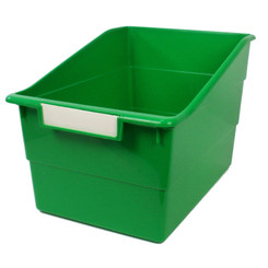 ROMANOFF PRODUCTS (3 EA) WIDE GREEN FILE WITH LABEL 77305BN