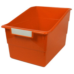 ROMANOFF PRODUCTS (3 EA) WIDE ORANGE FILE WITH LABEL 77309BN