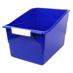 ROMANOFF WIDE BLUE FILE WITH LABEL HOLDER