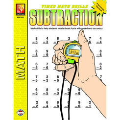 REMEDIA PUBLICATIONS TIMED MATH DRILLS SUBTRACTION