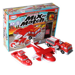 POPULAR PLAYTHINGS MAGNETIC VEHICLES FIRE & RESCUE