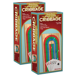 PRESSMAN (2 EA) CRIBBAGE WITH CARDS IN WOOD 181006BN