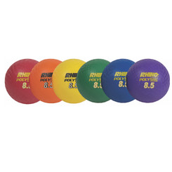 CHAMPION SPORTS PLAYGROUND BALL SET OF 6 8 1/2IN
