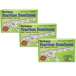 LEARNING ADVANTAGE   LEARNING ADVANTAGE (3 EA) FRACTION DOMINOES GAME 4080BN