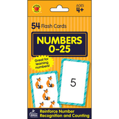BRIGHTER CHILD NUMBERS 0-25 FLASH CARDS