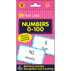 BRIGHTER CHILD NUMBERS 0-100 FLASH CARDS