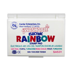 READY 2 LEARN STAMP PAD RAINBOW ELECTRIC 3 COLORS