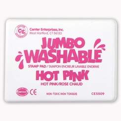 READY 2 LEARN JUMBO STAMP PAD HOT PINK WASHABLE