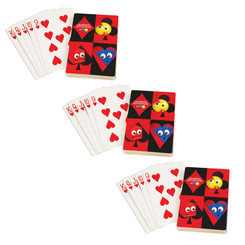 LEARNING ADVANTAGE (3 EA) GIANT PLAYING CARDS 7658BN