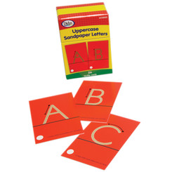 DIDAX TACTILE SANDPAPER UPPERCASE LETTERS