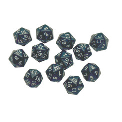 LEARNING ADVANTAGE 20 SIDED POLYHEDRA DICE SET OF 12