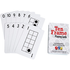 LEARNING ADVANTAGE TEN FRAMES PLAYING CARDS