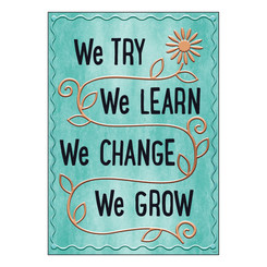 ARGUS WE TRY WE LEARN WE CHANGE POSTER