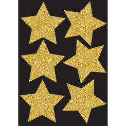 ASHLEY PRODUCTIONS DIE CUT MAGNETS 4IN GOLD SPARKLE 30450