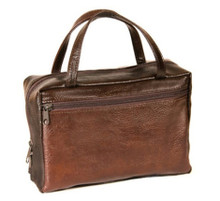 Avery Faux Leather: Brown - Regular Scripture Tote *
