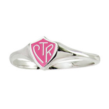 "Mini ""Classic design"" CTR Ring -  Pink (Sterling Silver) *"
