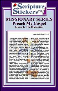 Scripture Stickers Preach My Gospel Lesson 1 *