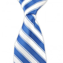 Men's Blue/White Stripe CTR Tie