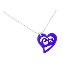 """Necklace """"CTR Love Heart""""  Blue *"""