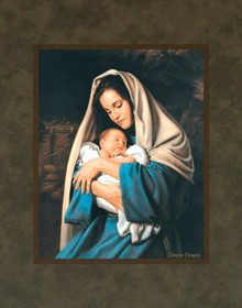 In The Arms Of Mary  11x14 Matted Print.  Mats may vary *